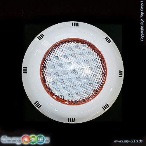 V-TAC LED Poolscheinwerfer 18 Watt warm-weiß IP68 Montage ohne Topf