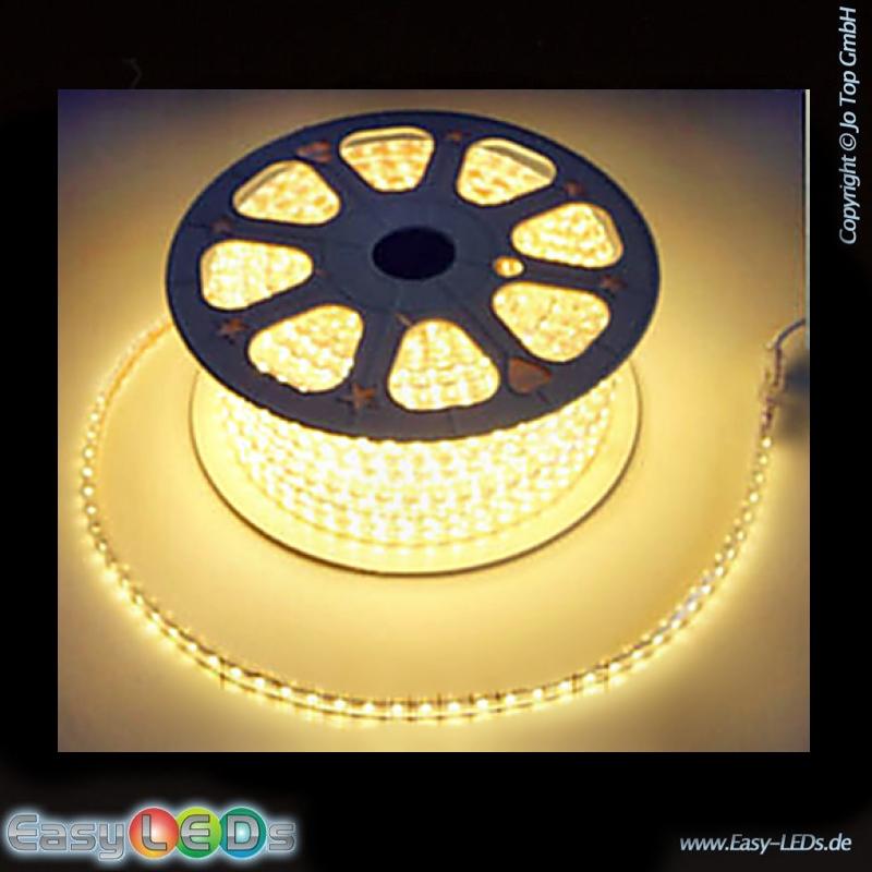 led stripschlauch 10m warm wei 230v ip44. Black Bedroom Furniture Sets. Home Design Ideas