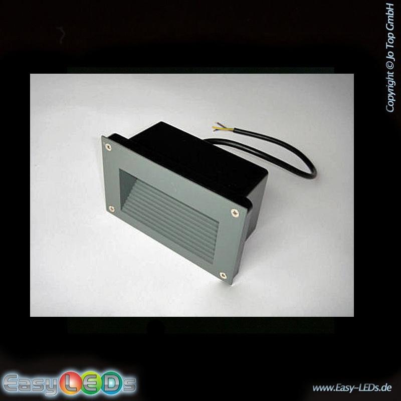 led stufenbeleuchtung einbau 3 watt warm wei ip54. Black Bedroom Furniture Sets. Home Design Ideas