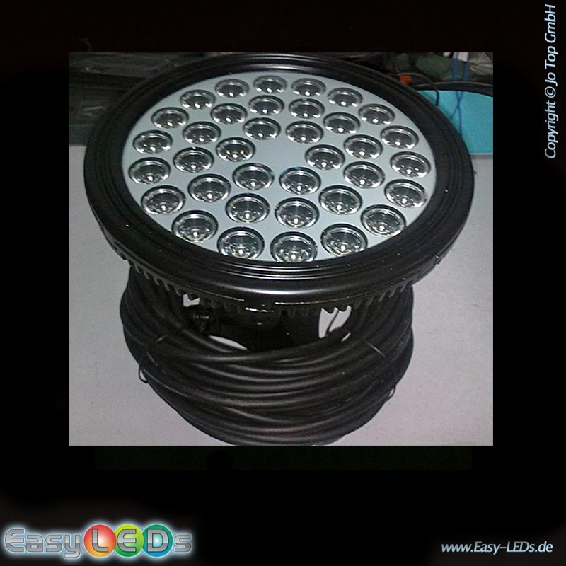 led unterwasserscheinwerfer 36x1 watt rgb ip68 online kaufen. Black Bedroom Furniture Sets. Home Design Ideas