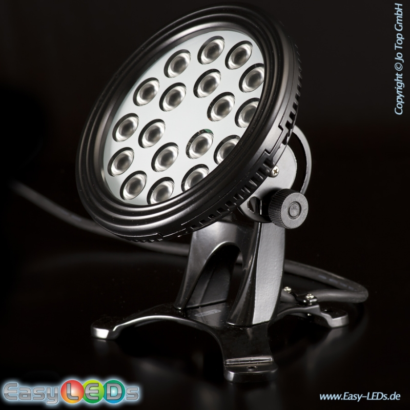 led unterwasserscheinwerfer 18x1 watt warm wei ip68 online kaufen. Black Bedroom Furniture Sets. Home Design Ideas