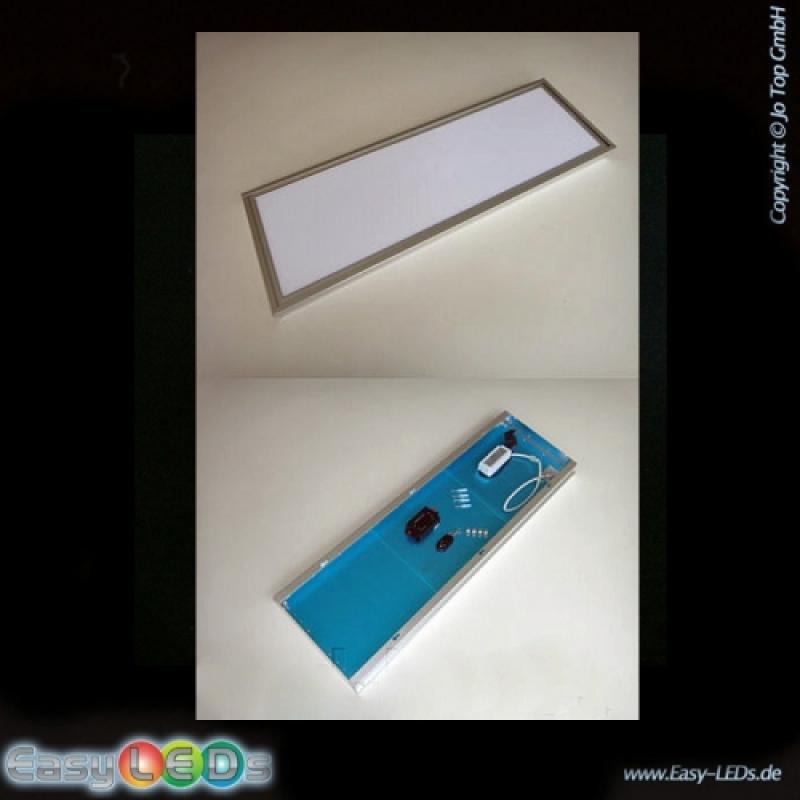 led lichtfl che panel 120x30cm tageslicht wei mit aufbau. Black Bedroom Furniture Sets. Home Design Ideas