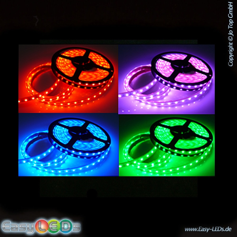 led lichtband strip 5m 150 1chip smd led rgb ip65 komplettset online kaufen. Black Bedroom Furniture Sets. Home Design Ideas