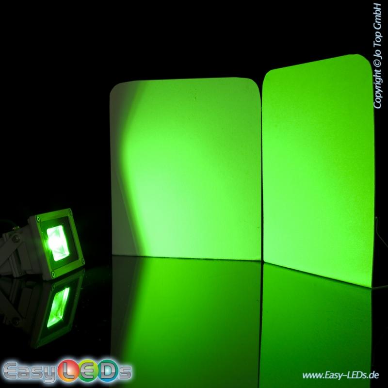led fluter 12v 10 watt cob gr n online kaufen. Black Bedroom Furniture Sets. Home Design Ideas