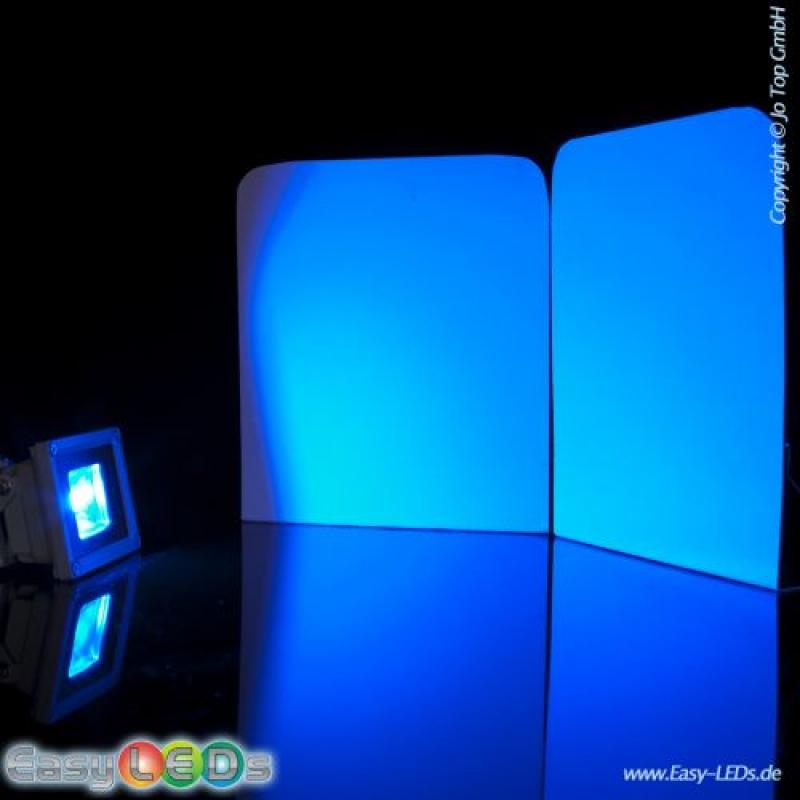 a led fluter slim 10 watt cob blau online kaufen. Black Bedroom Furniture Sets. Home Design Ideas
