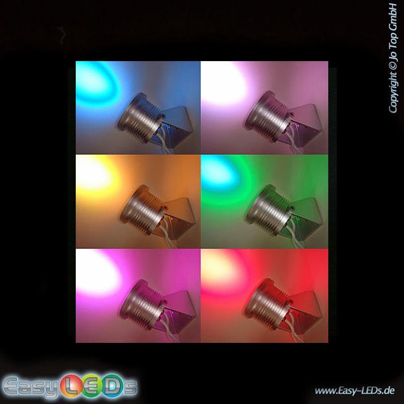led aufbaustrahler 6x3 watt led rgb ip65 online kaufen. Black Bedroom Furniture Sets. Home Design Ideas