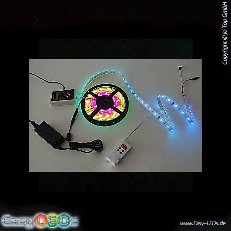 led lichtband strip 5m 300 led rgb digital ic farbwechsel. Black Bedroom Furniture Sets. Home Design Ideas