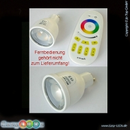 LED GU10 4 Watt RGB + 5 Watt warm-wei� 2,4GHz