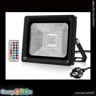 1A LED Fluter Slim 10 Watt RGB IP66 + Funk